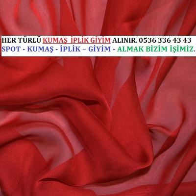 PARÇA ŞİFON ALINIR.HER TÜRLÜ KUMAŞ  İPLİK GİYİM ALINIR. 0536 336 43 43
